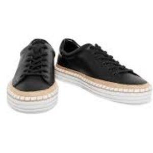 Sam Edelman Women's Kavi black Leather Sneakers